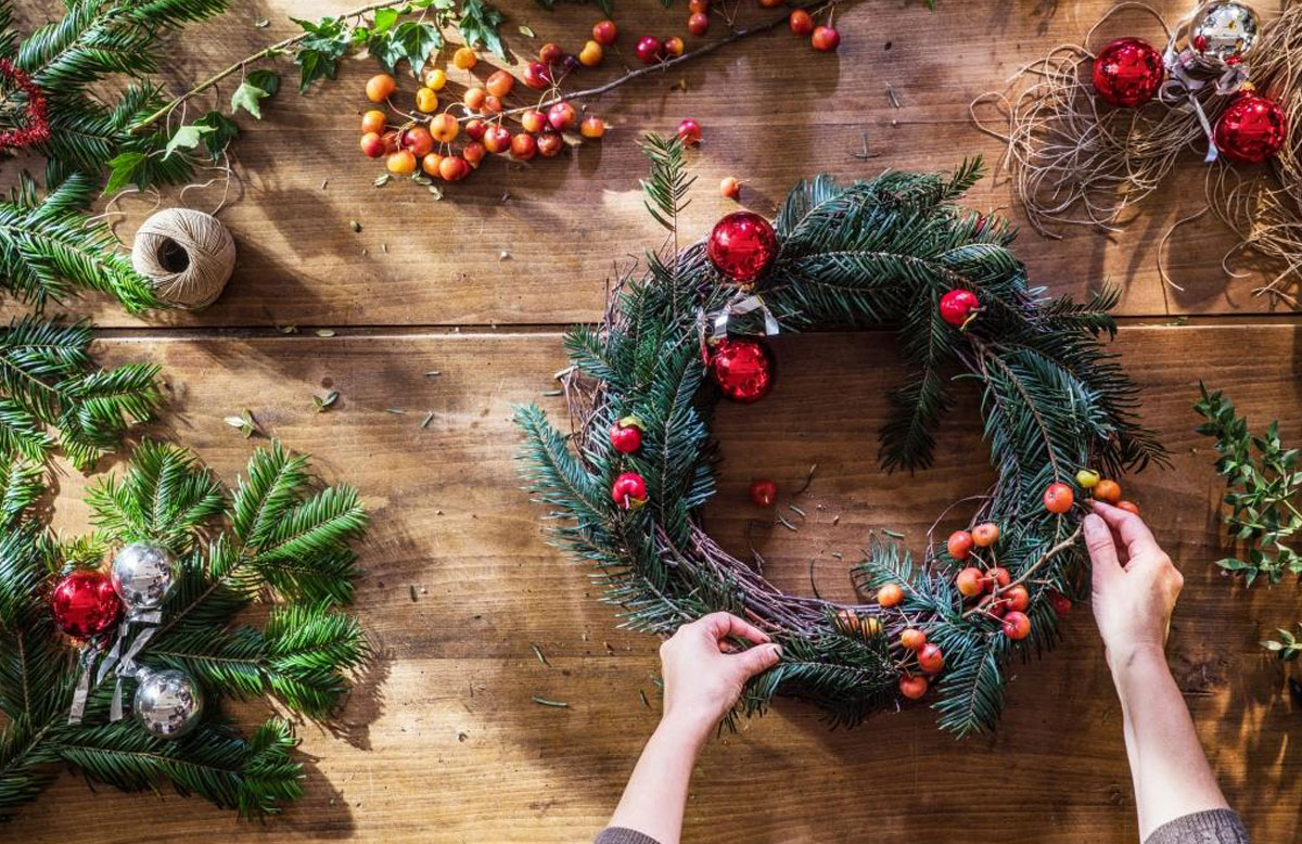 Dunsmore Living Landscape natural wreath making